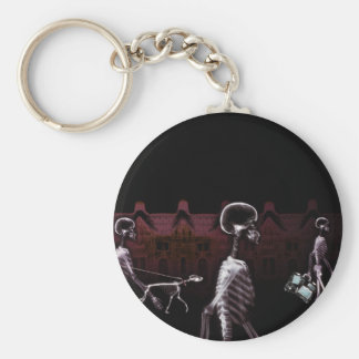 X-Ray Skeletons Midnight Stroll - Original Basic Round Button Key Ring