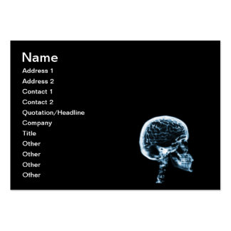 X-RAY SKULL BRAIN - BLACK & BLUE PACK OF CHUBBY BUSINESS CARDS