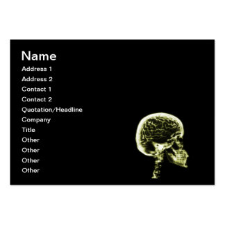 X-RAY SKULL BRAIN - BLACK & YELLOW PACK OF CHUBBY BUSINESS CARDS