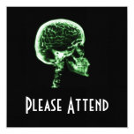 X-RAY SKULL BRAIN - GREEN PERSONALISED ANNOUNCEMENTS