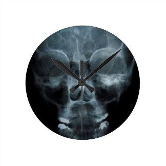 X-ray Skull Round Wall Clocks