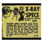 X-Ray Specs! See through clothes (kind of) Poster