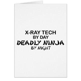 X-Ray Tech Deadly Ninja Greeting Card
