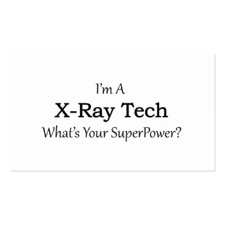 X-Ray Tech Pack Of Standard Business Cards