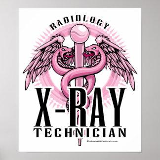 X-Ray Tech Pink Caduceus Poster