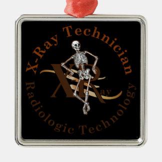 X Ray Technician Circle Brown Christmas Ornament