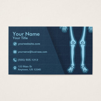 X-Ray Technician Orthopedic Rheumatologist Business Card