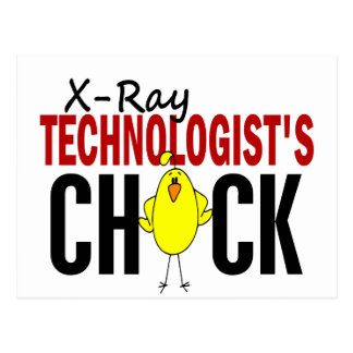 X-Ray Technologist's Chick Post Card