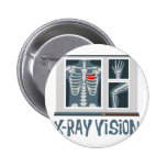 X-Ray Vision 6 Cm Round Badge