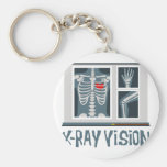 X-Ray Vision Basic Round Button Key Ring