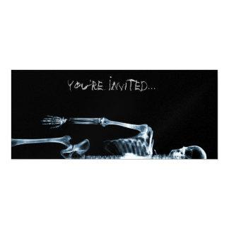 X-Ray Vision Blue Single Skeleton Invites
