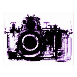 X-RAY VISION CAMERA BLACK PURPLE POSTCARD