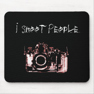 X-RAY VISION CAMERA BLACK RED - I Shoot People Mouse Mat