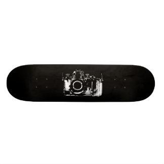 X-RAY VISION CAMERA - BLACK & WHITE 21.3 CM MINI SKATEBOARD DECK