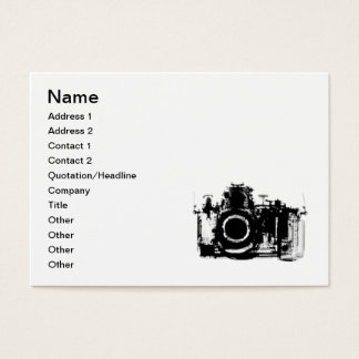 X-RAY VISION CAMERA - BLACK & WHITE BUSINESS CARD