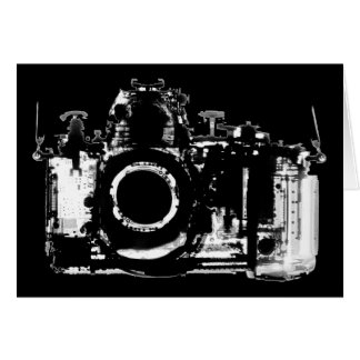 X-RAY VISION CAMERA - BLACK & WHITE CARD