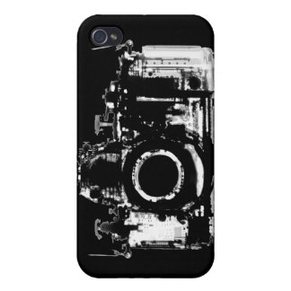 X-RAY VISION CAMERA - BLACK & WHITE COVER FOR iPhone 4