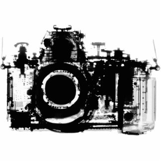 X-RAY VISION CAMERA - BLACK WHITE PHOTO SCULPTURE