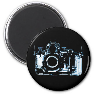 X-RAY VISION CAMERA - BLUE 6 CM ROUND MAGNET
