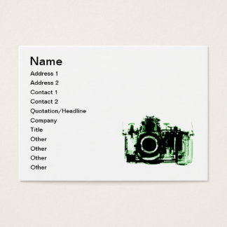 X-RAY VISION CAMERA - GREEN BUSINESS CARD