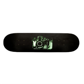 X-RAY VISION CAMERA - GREEN SKATE BOARD DECK