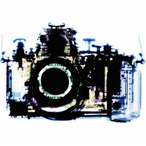 X-RAY VISION CAMERA - ORIGINAL BLUE PHOTO SCULPTURE
