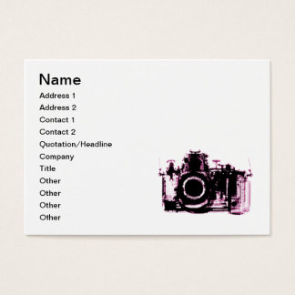 X-RAY VISION CAMERA - PINK BUSINESS CARD