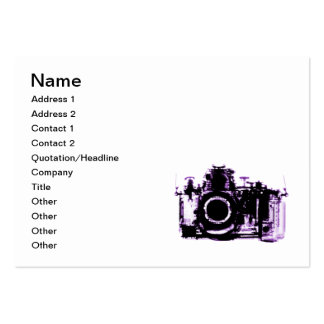 X-RAY VISION CAMERA - PURPLE PACK OF CHUBBY BUSINESS CARDS