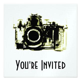 X-RAY VISION CAMERA - YELLOW INVITE
