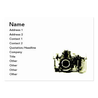X-RAY VISION CAMERA - YELLOW PACK OF CHUBBY BUSINESS CARDS