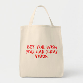 X-Ray Vision Grocery Tote Bag
