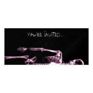 X-Ray Vision Pink Single Skeleton Invites