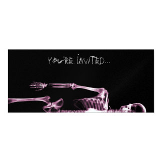 X-Ray Vision Pink Single Skeleton Invites