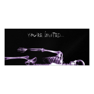 X-Ray Vision Purple Single Skeleton Invites