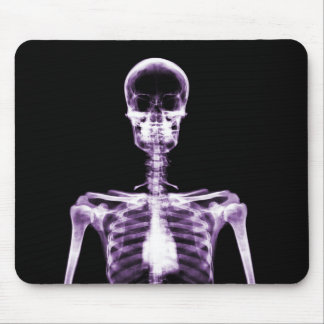 X-Ray Vision Purple Single Skeleton Mouse Mat