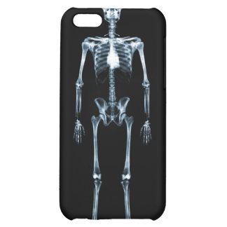 X-Ray Vision Single Skeleton - Black & Blue iPhone 5C Covers