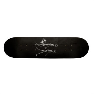 X-RAY VISION SKELETON COUPLE TRAVELING B W SKATE BOARD