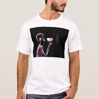 X-RAY VISION SKELETON ON MEGAPHONE -PINK T-Shirt