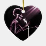 X-RAY VISION SKELETON SINGING ON RETRO MIC - PINK