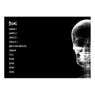 X-RAY VISION SKELETON SKULL - B&W PACK OF CHUBBY BUSINESS CARDS