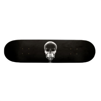 X-RAY VISION SKELETON SKULL - B&W SKATE BOARD DECK