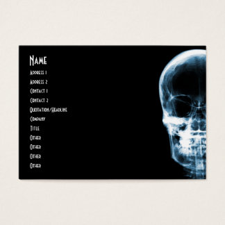 X-RAY VISION SKELETON SKULL - BLUE BUSINESS CARD