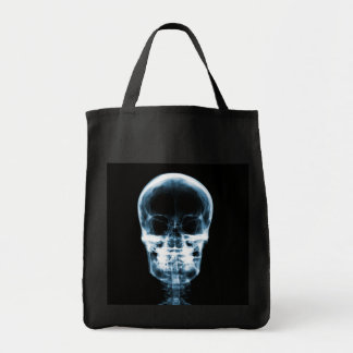 X-RAY VISION SKELETON SKULL - BLUE TOTE BAG