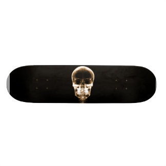 X-RAY VISION SKELETON SKULL - ORANGE SKATE BOARD