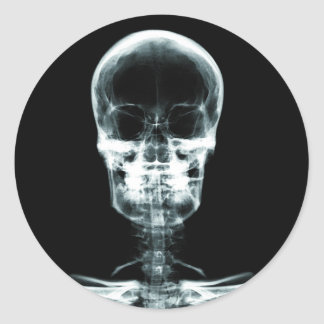 X-RAY VISION SKELETON SKULL - ORIGINAL CLASSIC ROUND STICKER