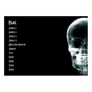 X-RAY VISION SKELETON SKULL - ORIGINAL PACK OF CHUBBY BUSINESS CARDS
