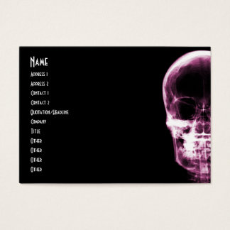 X-RAY VISION SKELETON SKULL - PINK BUSINESS CARD