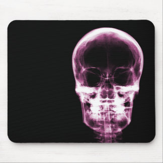 X-RAY VISION SKELETON SKULL - Pink Mouse Pad