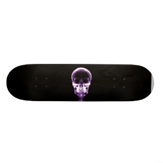 X-RAY VISION SKELETON SKULL - PURPLE 20.6 CM SKATEBOARD DECK
