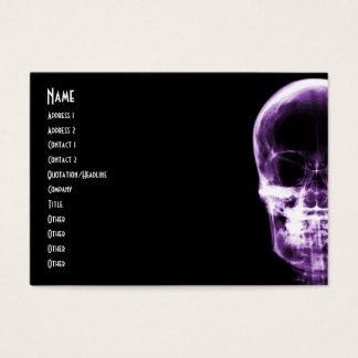 X-RAY VISION SKELETON SKULL - PURPLE BUSINESS CARD